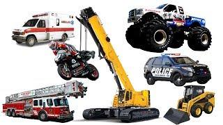 Car Videos for Kids | Learning Street Vehicles Names | Truck , Dump Truck, Motorbike for Children