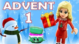 Toy Advent Calendar Day 1 - - Shopkins LEGO Friends Play Doh Minions My Little Pony Disney Princess