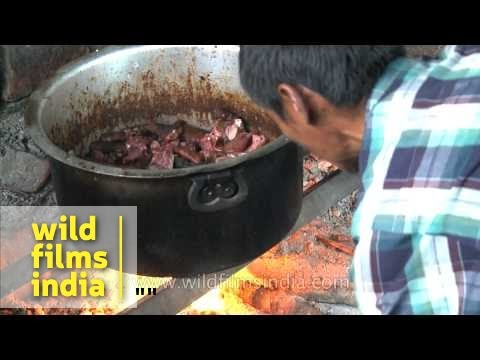 Cook pork Naga style in Kohima