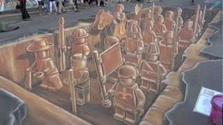3D STREET ART TERRACOTTA LEGO ARMY.m4v