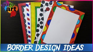 1st | Border designs on paper | border designs | project work designs | borders for projects
