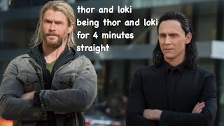 thor and loki being thor and loki for 4 minutes straight