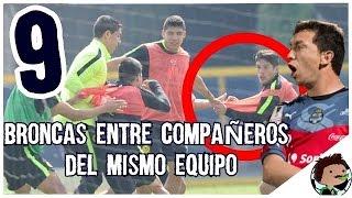 9 Broncas entre compañeros del mismo equipo Boser Salseo Futbolero