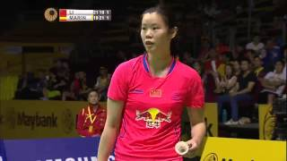 Li Xuerui vs Carolina Marin | WS F Match 4 - Maybank Malaysia Open 2015