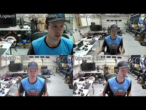 Webcam Showdown Take 3 Logitech C920 vs EMeet C960 vs TaoTuo HD vs Kangya