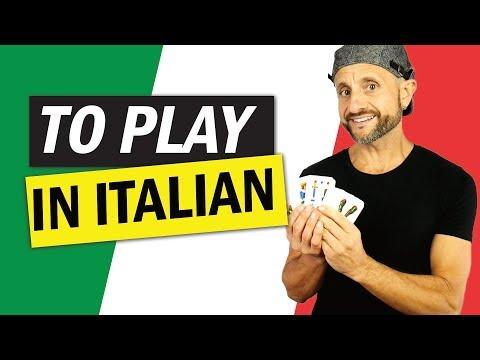 Italian Verbs how to say To Play in Italian