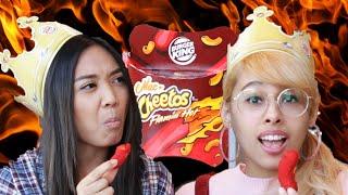 People Try Burger King's Flamin' Hot Mac N' Cheetos