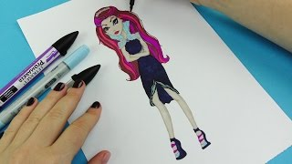 How To Draw Raven Queen Ever After High Vidoe for Kids