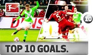 Top 10 Goals - FC Bayern versus VfL Wolfsburg