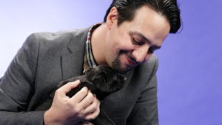 Lin-Manuel Miranda Plays With Puppies While Answering Fan Questions