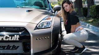 SHE'S OBSESSED (Behind the scenes R35 GT-R video shoot)
