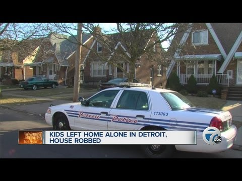 Kids left home alone in Detroit, house robbed