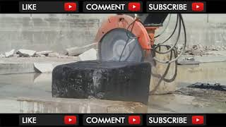 Granite Rock Giant Saw and Drill Compilation