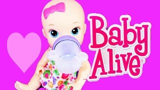 Baby Alive Doll Baby with Pee Diaper Sips and Cuddles Cute Babies Drinks & Pees Fun Toy Review