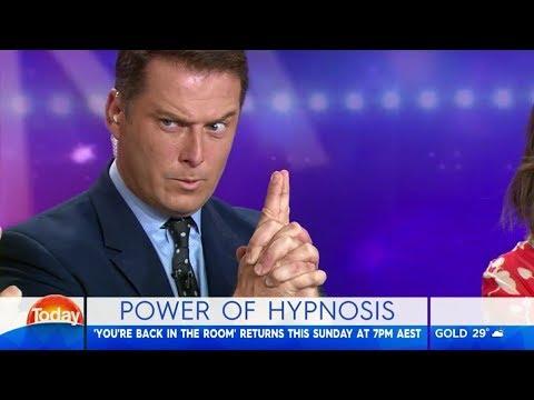 Karl Stefanovic gets hypnotised on live TV
