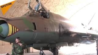 ویدئوی آرشیوی: پایگاه هوایی الشعیرات سوریه که بر اثر حمله موشکی آمریکا آسیب دیده است