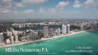 Sunny Isles aerial video