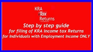 How to file KRA iTax Returns Online for Employees with Employment Income - Kenya  Revenue Authority