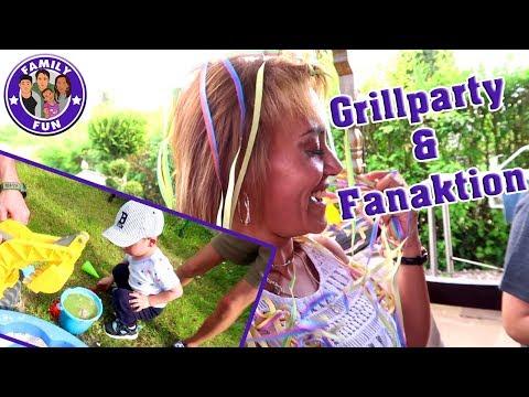 SUPER COOLE FANAKTION und Grillparty im Schrebergarten Family Fun