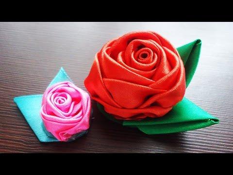 Атласная роза своими руками 20