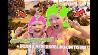 ESMÉ AND ISLA MAKEOVER! + BRAND NEW HOTEL ROOM TOUR!
