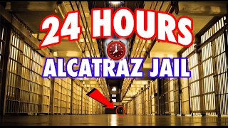 (GHOSTS) 24 HOUR OVERNIGHT in ALCATRAZ MOB OF THE DEAD PRISON | OVERNIGHT CHALLENGE in ALCATRAZ JAIL