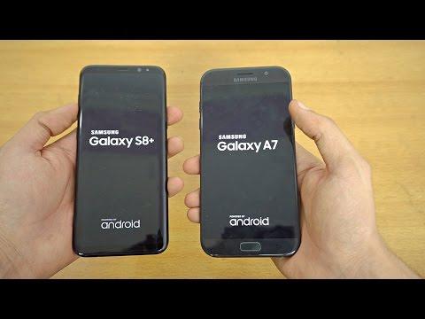 Samsung Galaxy S8 Plus vs Galaxy A7 2017 Speed Test 4K