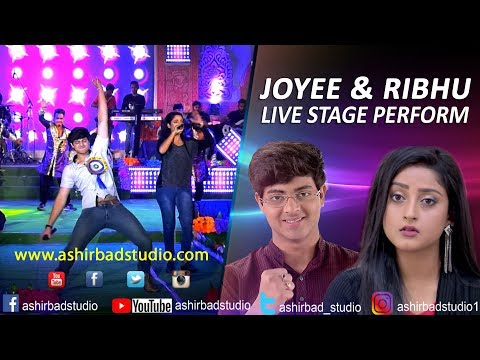 Zee Bangla Serial Actor & Actress-Joyee & Ribhu Live Perform On Stag|Dance,Live Singing,Live Concert