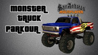 GTA San Andreas Multiplayer | Monster Truck Parkour 2 | Solo Play
