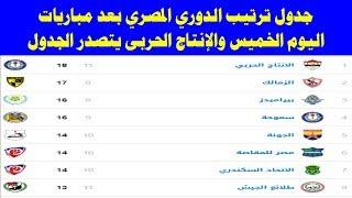 جدول ترتيب الدوري المصري بعد مباريات اليوم الخميس 18-10-2018