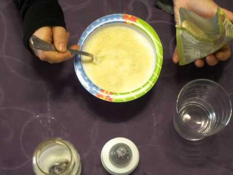 Como hacer una papilla de cereales, o la primera papilla de bebes.