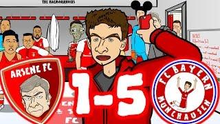 😂BAYERN MAMBO No 5-1! Ep3😂 Arsenal vs Bayern Munich 1-5 (Champions League 2017 Goals Highlights)
