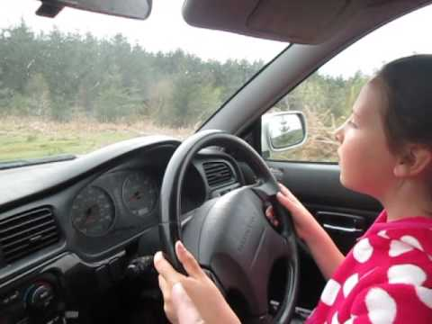 Kate's 1st drive of a Subaru! Did well  fair play! xxx