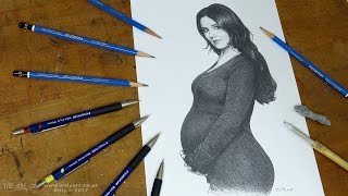 Drawing Cheryl pregnant taken from the 2017 L'oréal Advert time-lapse