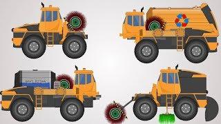 Transformers | Garbage Truck | Water Jet Truck | Sweeper Truck Videos