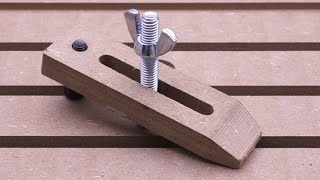 Making Wooden Clamps for CNC
