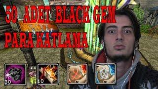Knight Online Şans Oyunları 50x Black Gem | Para Kasma