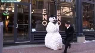 رجل الثلج -مقلب 3#
