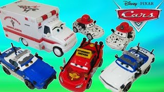 DISNEY PIXAR CARS RESCUE SQUAD MATER POLICE CARS TEACH LIGHTNING MCQUEEN HOW TO DRIVE