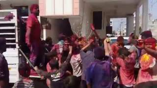 Dance on Julie Julie Johny Ka Dil - Mithun Chakraborty song at holi festival 2017