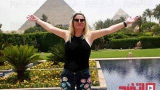 كاتيا  شقيقة  كريستيانو رونالد، مهاجم نادي ريال مدريد الإسبانى خلال زيارتها لمصر