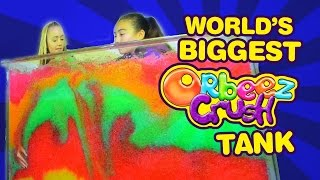 The World's BIGGEST Orbeez Crush Tank Challenge   Official Orbeez