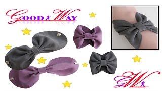 طريقة عمل اساور بإستخدام قماش الجوخ \ Leather Bow Bracelet DIY
