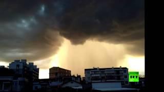 عاصفة رعدية تضرب شرق الصين
