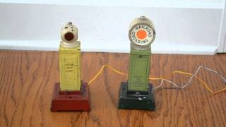 Lionel #83 Traffic Signal and #87 Crossing Signal