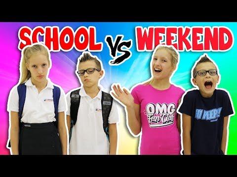NIGHTTIME ROUTINE SCHOOL DAY vs WEEKEND