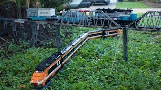 Awesome Lego Garden Railway and through the House 2017