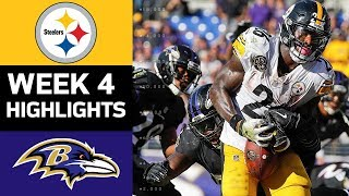 Steelers vs. Ravens | NFL Week 4 Game Highlights