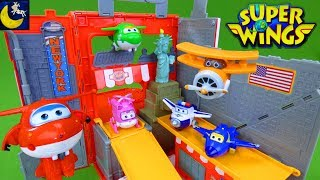 Super Wings Toys Jett New York City Pack N Go Travel Playset NYC Dizzy Donnie Jerome Airport Toys