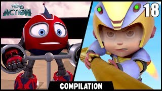 Vir: The Robot Boy & Rollbots | Compilation 18 | Action show for kids | WowKidz Action